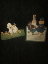 Antique Easter Die-Cuts Bunny Ducks Old Paper - £3.83 GBP
