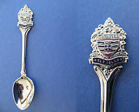 HOLY ISLAND Souvenir Collector Spoon Collectible UK. UNITED KINGDOM
