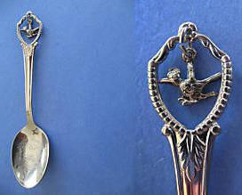 PALM SPRINGS California Souvenir Collector Spoon Collectible ROADRUNNER Charm