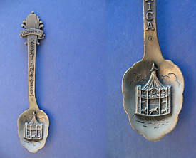 Primary image for MARRIOTT'S GREAT AMERICA Souvenir Collector Spoon PEWTER Collectible
