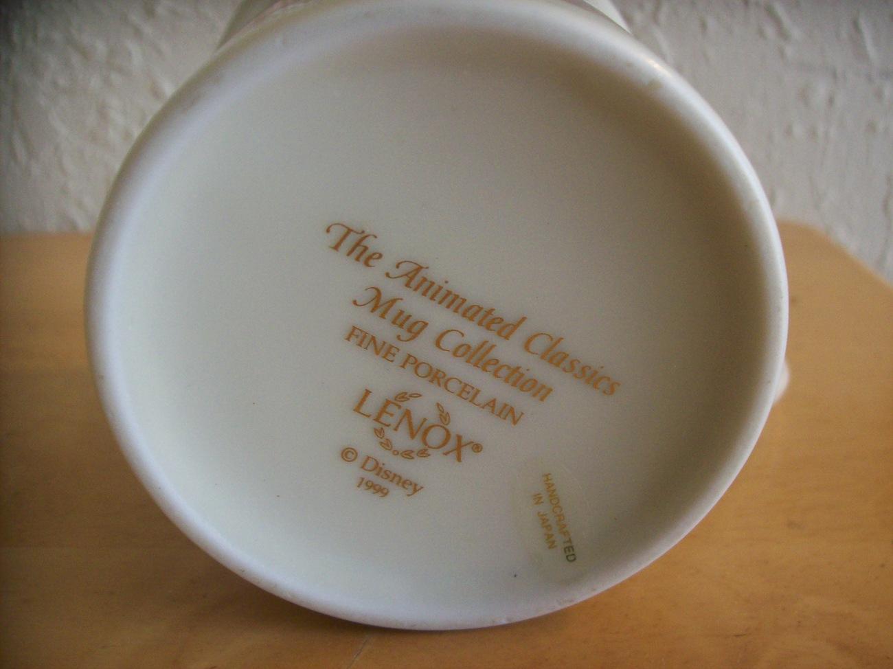 """1999 Lenox Disney """"Cinderella"""" Coffee Cup"""