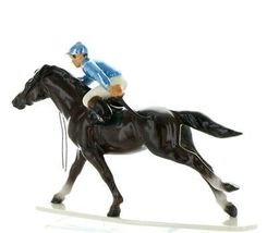 Hagen Renaker Specialty Horse with Jockey Racing Ceramic Figurine image 3