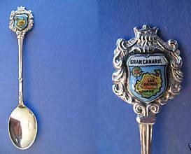 GRAND CANARY ISLAND Souvenir Collector Spoon Collectible GRAN CANARIA