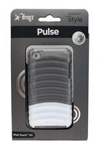 iFROGZ Case for IPOD TOUCH 4G Glossy Gray+White PULSE Ridged Hard Plasti... - $5.93