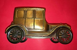 Vintage 1970s Banthrico Chicago coin bank brass 1926 ford toy advertisin... - $18.70