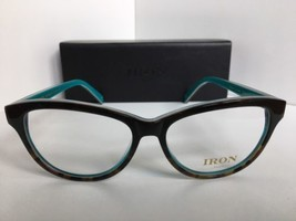 New IRON Paris IRO-4 col.002 50mm Tortoise Aqua Cats Eye Women's Eyeglasses - $129.99