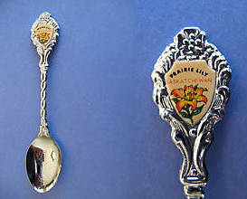 PREECEVILLE Saskatchewan Souvenir Collector Spoon Collectible PRAIRIE LILY