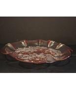 Vintage Mikasa Rosella Ruffled Edge Pink Glass Serving Bowl - $16.99