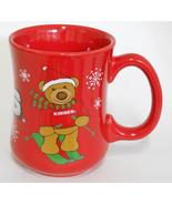 Galerie ~ Hershey Kisses Candy ~ Christmas Holiday ~ Skiing Bear ~ Cup Mug - $24.95
