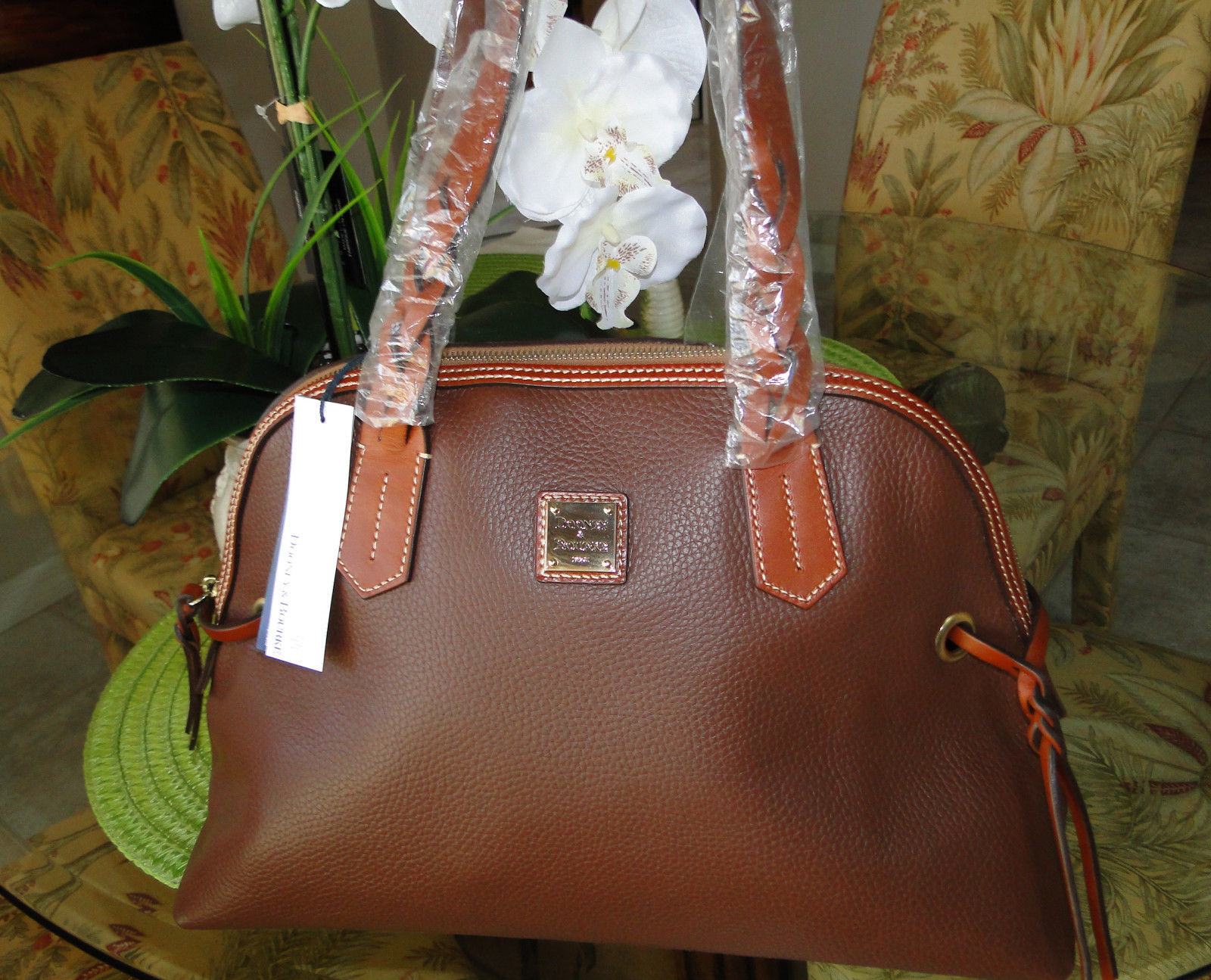 Dooney & Bourke Domed Pebble Leather Shoulder Bag