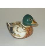 Mallard Duck Artesania Rinconda Figurine New Without Box Gold Silver Acc... - $55.43