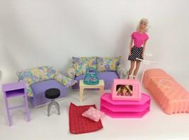 Barbie Doll Mattel Lot 60s to 80s SetAccessories Living Room Bedroom TV ... - $39.15