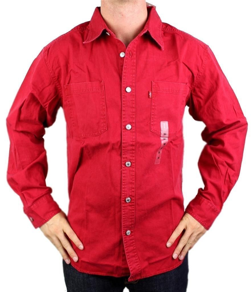 NEW LEVI'S MEN'S COTTON CLASSIC LONG SLEEVE DENIM BUTTON UP DRESS SHIRT-81060