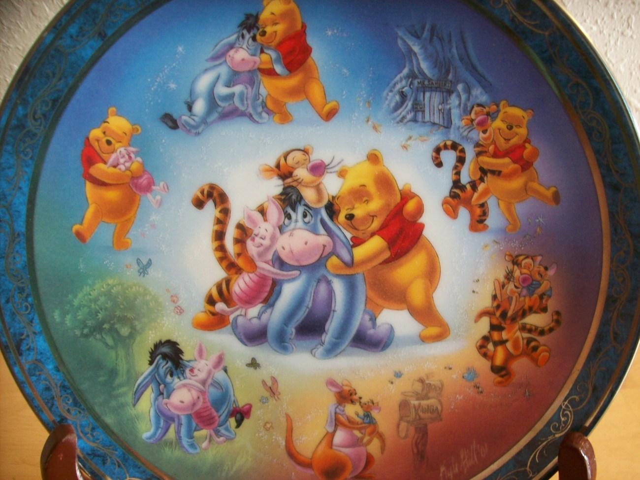 "Disney Winnie the Pooh ""Hundred Acre Hugs"" Bradford Exchange Collector's P image 2"