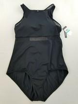 new JANTZEN women swimwear swimming suit JZ20718M 1pc black sz 16 usa $92 - $24.74