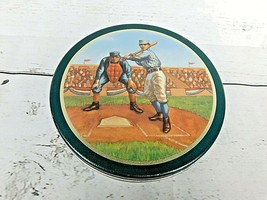 Great American Opportunities Inc Play Ball Starball Candy Tin Box Green VTG - $17.05