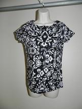 Jones New York Signature Size PS Petite Womens Black White Top NWOT - $24.58