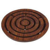 Handmade Wooden Labyrinth Ball Maze Puzzle Game Toys Brain Teaser Puzzle... - $27.12