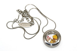 Bracciale Disney Round Locket Necklace Floating Pooh Tigger Floating Charms - $24.74