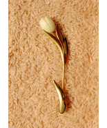 Avon Graceful Tulip Stick Pin Gold Plated Lucite Lapel Brooch ✿ VTG 1980s  - $19.76
