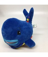 """BUCKLE TOY """"Blu"""" Whale - Toddler Early Learning Basic Life Skills Plush - $15.87"""