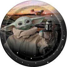 Star Wars Mandalorian The Child Baby Yoda Dessert Plates 8 Count Birthday Party - $5.89