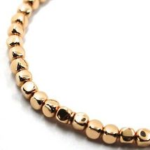"SOLID 18K ROSE GOLD ELASTIC BRACELET, CUBES DIAMETER 4 MM 0.16"", MADE IN ITALY image 3"