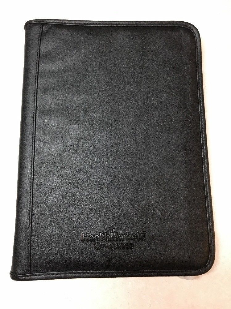 Primary image for Executive Conference Folder Portfolio Zipped Folio Leather Organizer Blk Lot:10