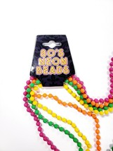"""Wicked Costumes Set of 4 80s Neon Beads Necklaces 48"""" Pink Green Yellow ... - $7.99"""