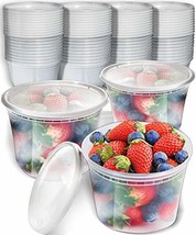 50pk 16oz Small Plastic Containers with Lids - Freezer Containers Deli C... - $18.06