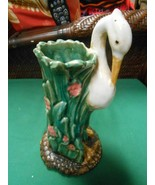 Great Vintage KIWI Bird Glazed Pottery Flower VASE - $19.39