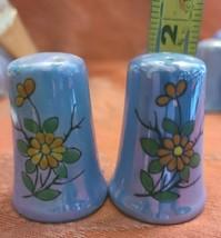 Vintage Pale Blue Japanese Lusterware Salt and Pepper Set Japan (#6)