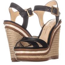 Jessica Simpson Aeralin Wedge Slingback Sandals 822, Black, 6.5 US / 36.... - $36.47