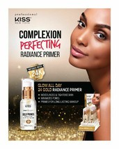 Kiss Pro Touch Gold Primer Radiance 24K Moisturizes Tighten Skin Makeup ... - $12.82