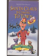 VHS TAPE SANTA CLAUS IS COMING TO TOWN TOLD AND SUNG BY FRED ASTAIRE 53 ... - $6.36