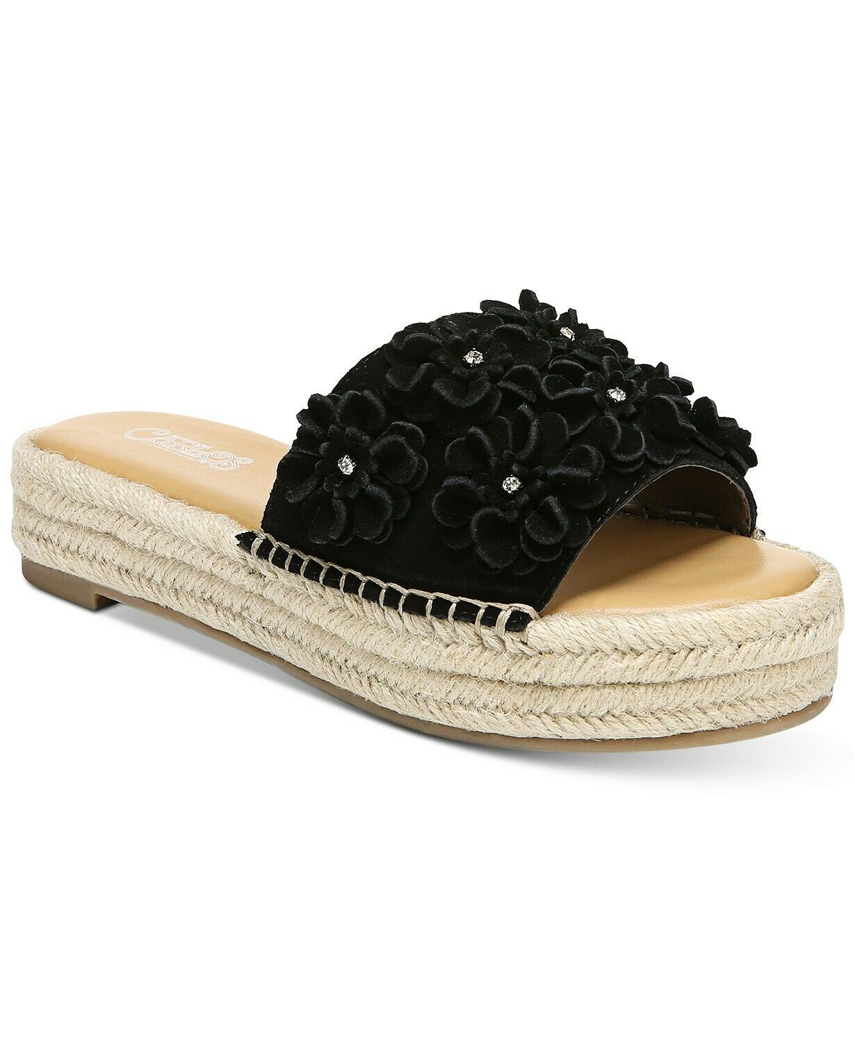 Carlos by Carlos Santana Chandler Sandals Black, Size 9 M