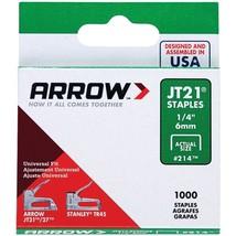 """Arrow 21424 JT21 Thin Wire Staples, 1,000 pk (1/4"""") - $19.94"""