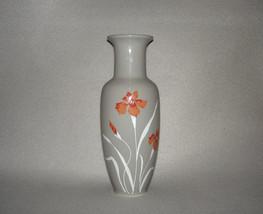 """Japan Porcelain Vase Gray Floral 11"""" Tall - $49.95"""