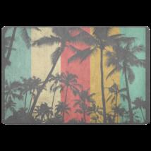 Beach Doormat - Palm Tree Beach House Colors - $25.99