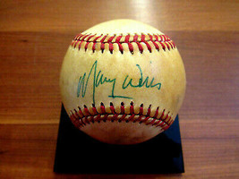 MAURY WILLS DODGERS 2ND BM SIGNED AUTO ERA FEENEY GAME USED ONL BASEBALL... - $148.49