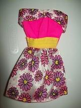 Genuine Barbie Floral Daisy Spring Easter Dress For Barbie & Friends Clo... - $12.86