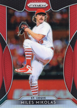 2019 Panini Prizm Baseball Card Red Prizm Parallel #26 Miles Mikolas Cardinals - $0.99