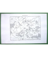 "1846 ANTIQUE ORIGINAL MAP - FRANCE Wattignies & Environs 10 x 15"" (25 x ... - $18.90"