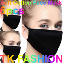 3ea or 6ea Soft Cotton Face Black Mask Double Layer Reusable and Washabl... - $6.99+