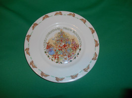 """8"""", """"Merry Christmas from Bunnykins""""  Salad Plate. from Royal Doulton,  - $11.99"""