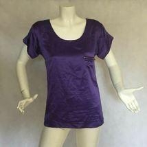 DVF Diane Von Furstenberg Purple top blouse 100% silk size 0 Career work image 6