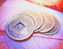 Haunted Freebie 3x Money Gift Magick Coin Asian Motif Charm Witch Cassia4 - $0.00