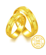 ZZZ 24K Pure gold Jane eyre contracted couples gold Buddhist monastic - $1,265.99