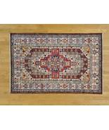 "3'10""x6' Hand Knotted Super Kazak 100 Percent Wool Oriental Rug G26496 - $525.46"