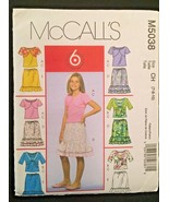 Mccall's Girl's Tank Top, Shrug and Ruffled Skirt Size 7-8-10 Pattern M5038 - $3.96
